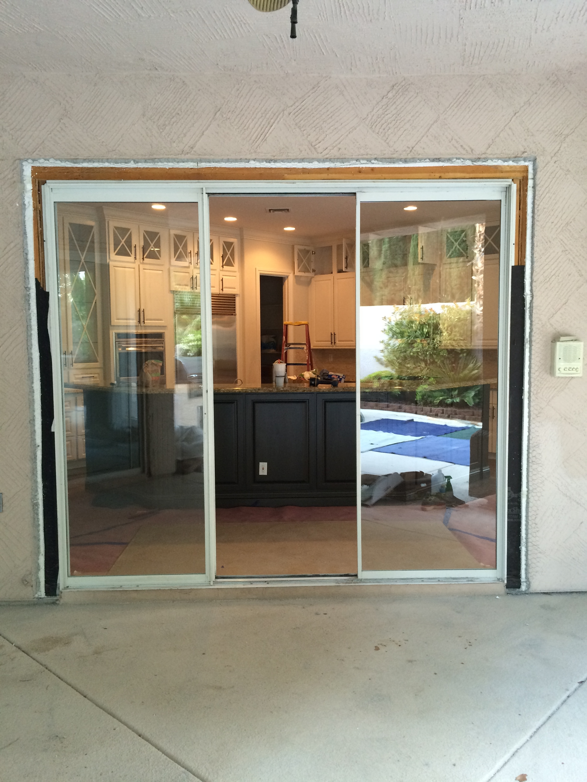 9 Foot Tall Sliding Glass Doorsthree openings 9 8 and 5 foot wide 8 foot tall we replaced