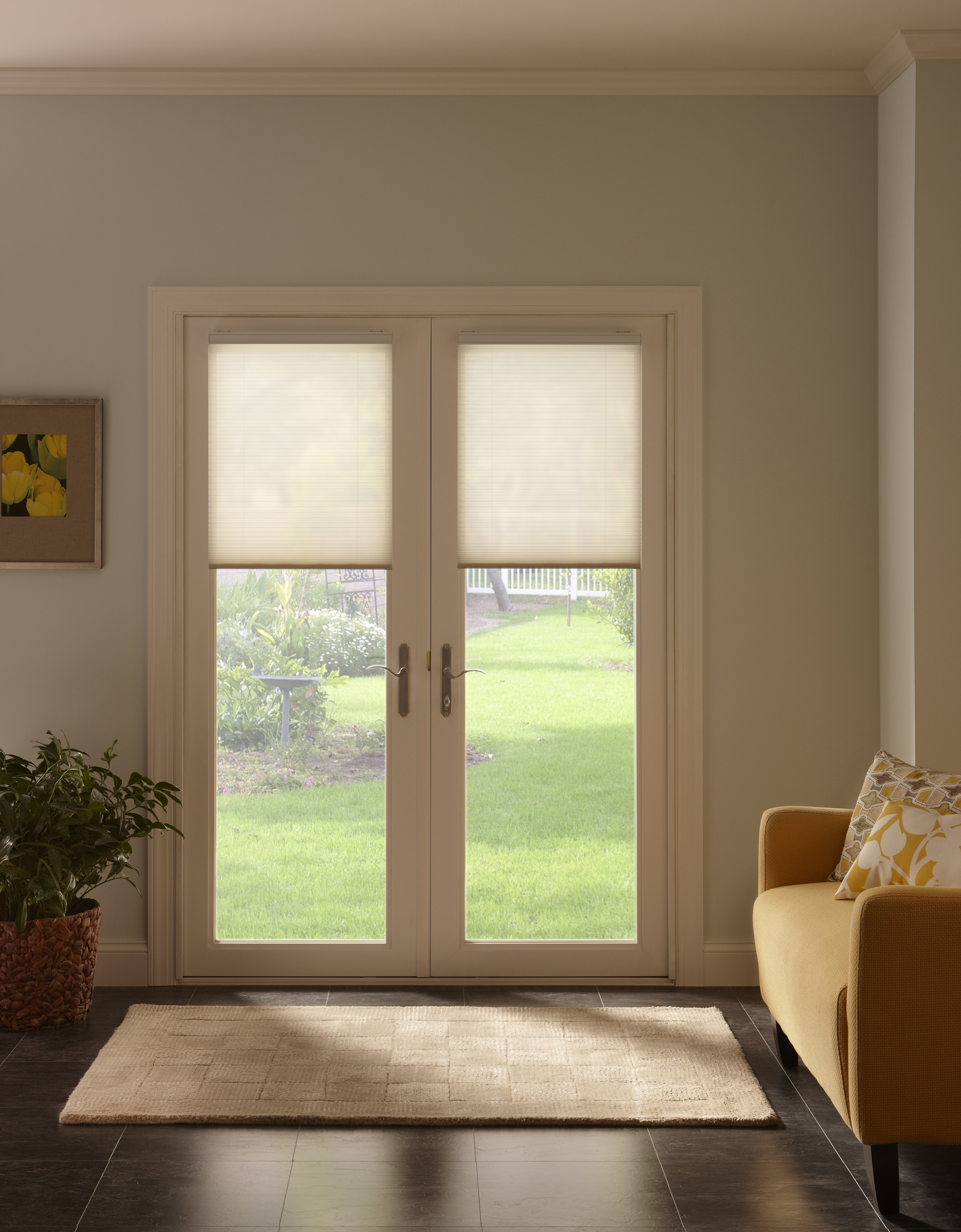 Bali Cellular Shades For Sliding Gl Door - Gl Door Ideas on