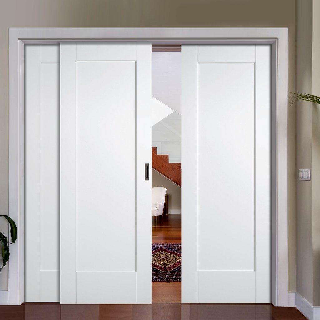 Disappearing sliding closet doors sliding doors for Sliding panel doors interior