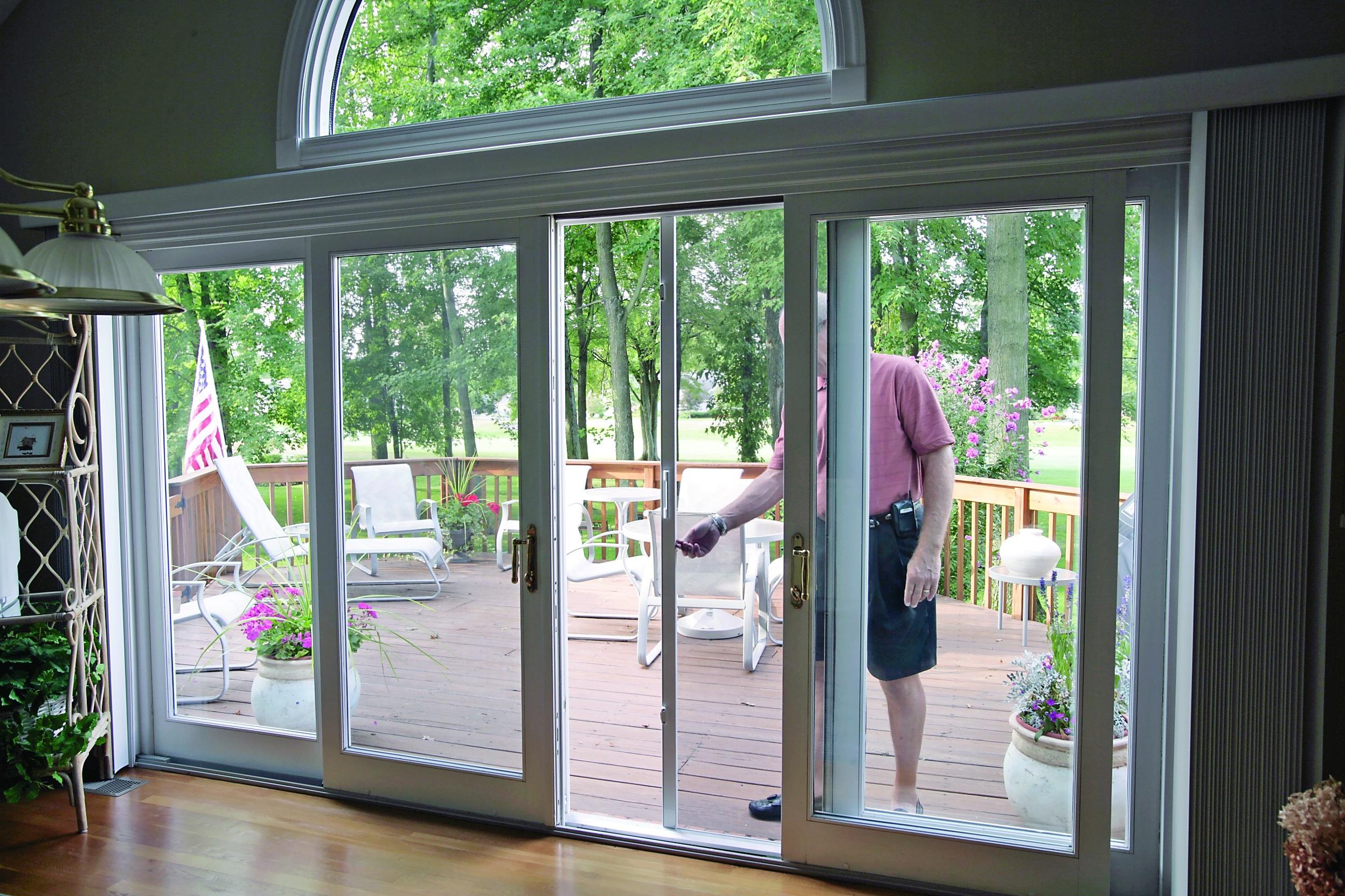 Double Wide Sliding Glass Doorsbeautiful and attractive sliding patio doors with screens