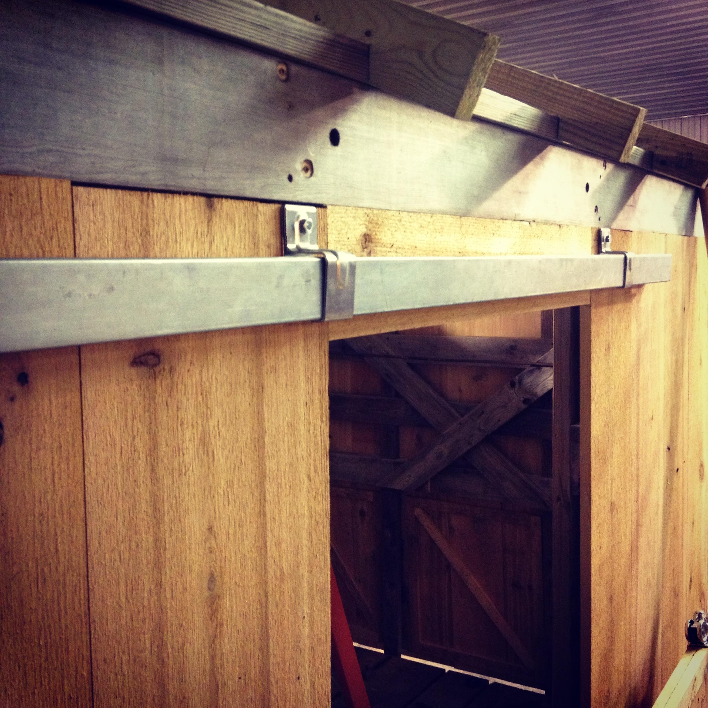 Farm Shed Sliding Door Trackbuilding a sliding barn door mauleddesign