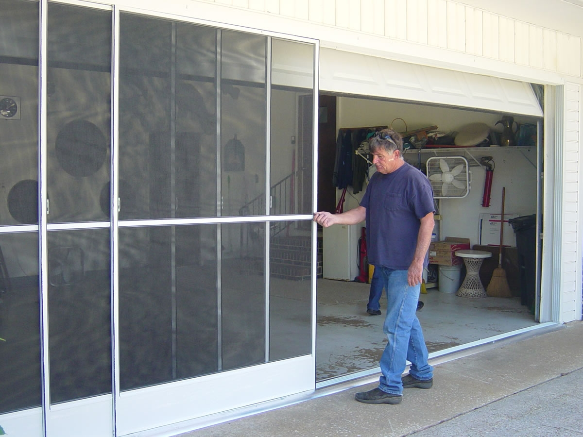 Garage Door Sliding Screen Kit