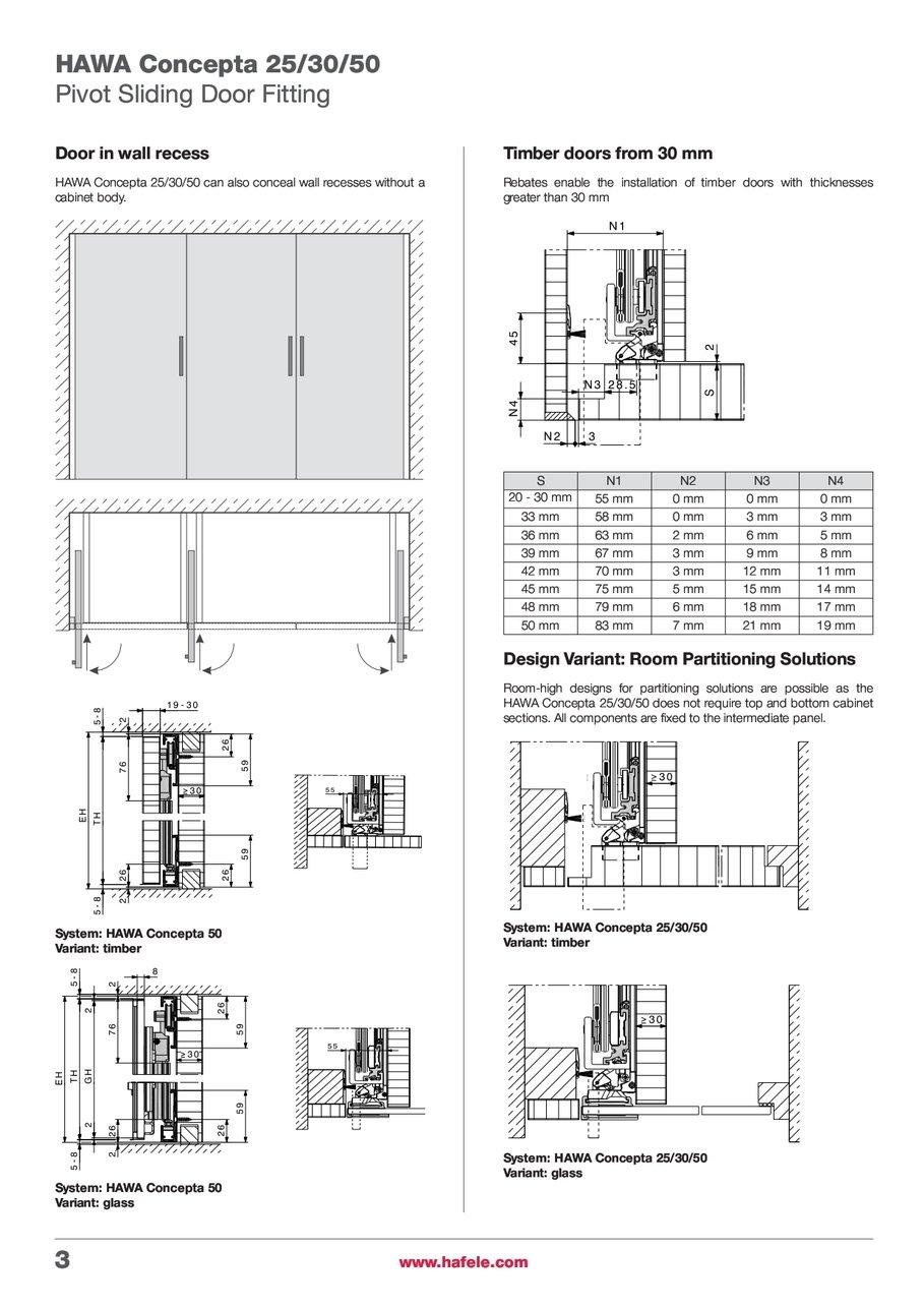 Pocket door hardware folding concepta 25 hawa 183 better building - Hawa Pivot Sliding Door Hardware
