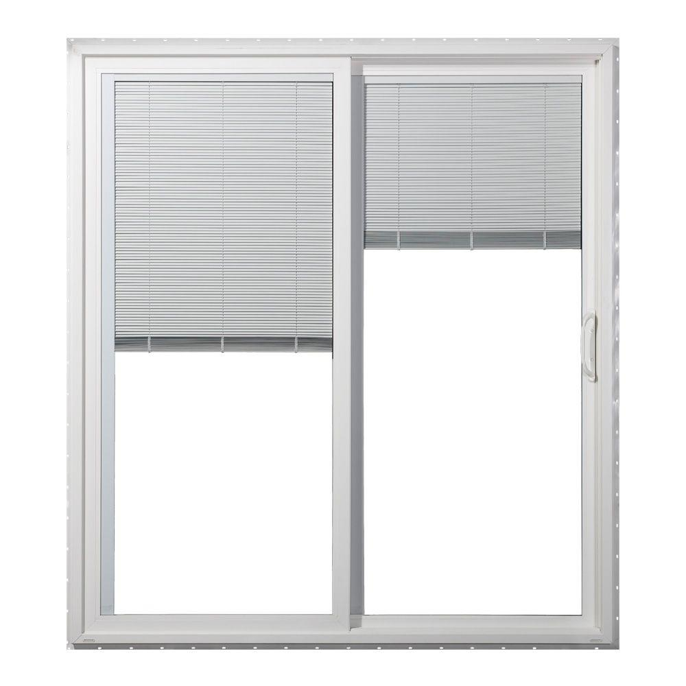Mini Blinds Inside Sliding Glass Doorsjeld wen 60 in x 80 in v 4500 series white right hand vinyl