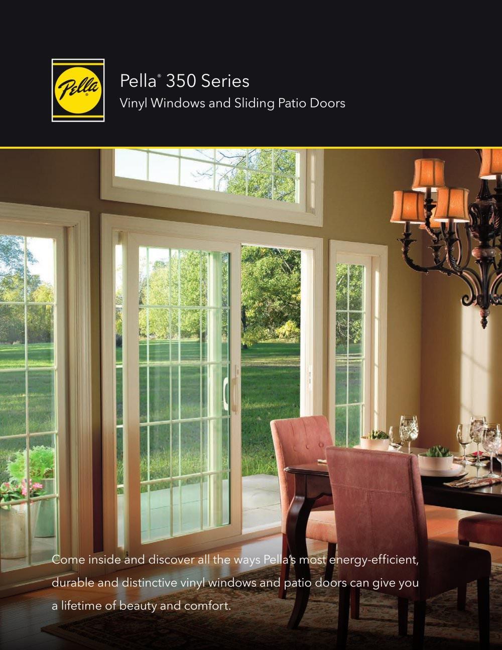 Most Energy Efficient Sliding Patio Doorspella 350 Series Vinyl Windows And Patio  Doors Pella Pdf