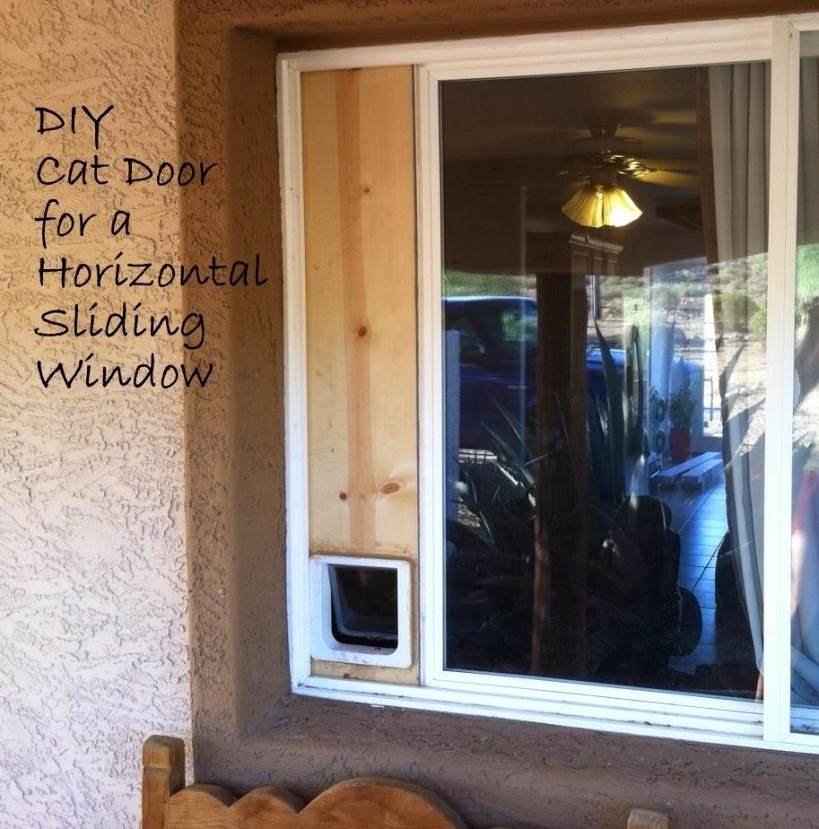 Side Sliding Window Cat Doordown to earth diy cat door horizontal sliding window
