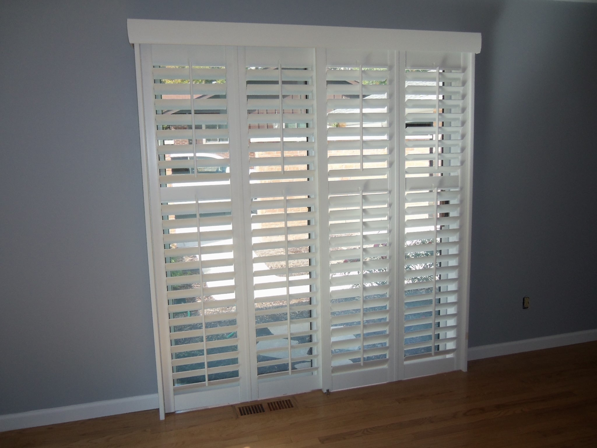 Sliding Bypass Shutters For Patio Doors Sliding Doors