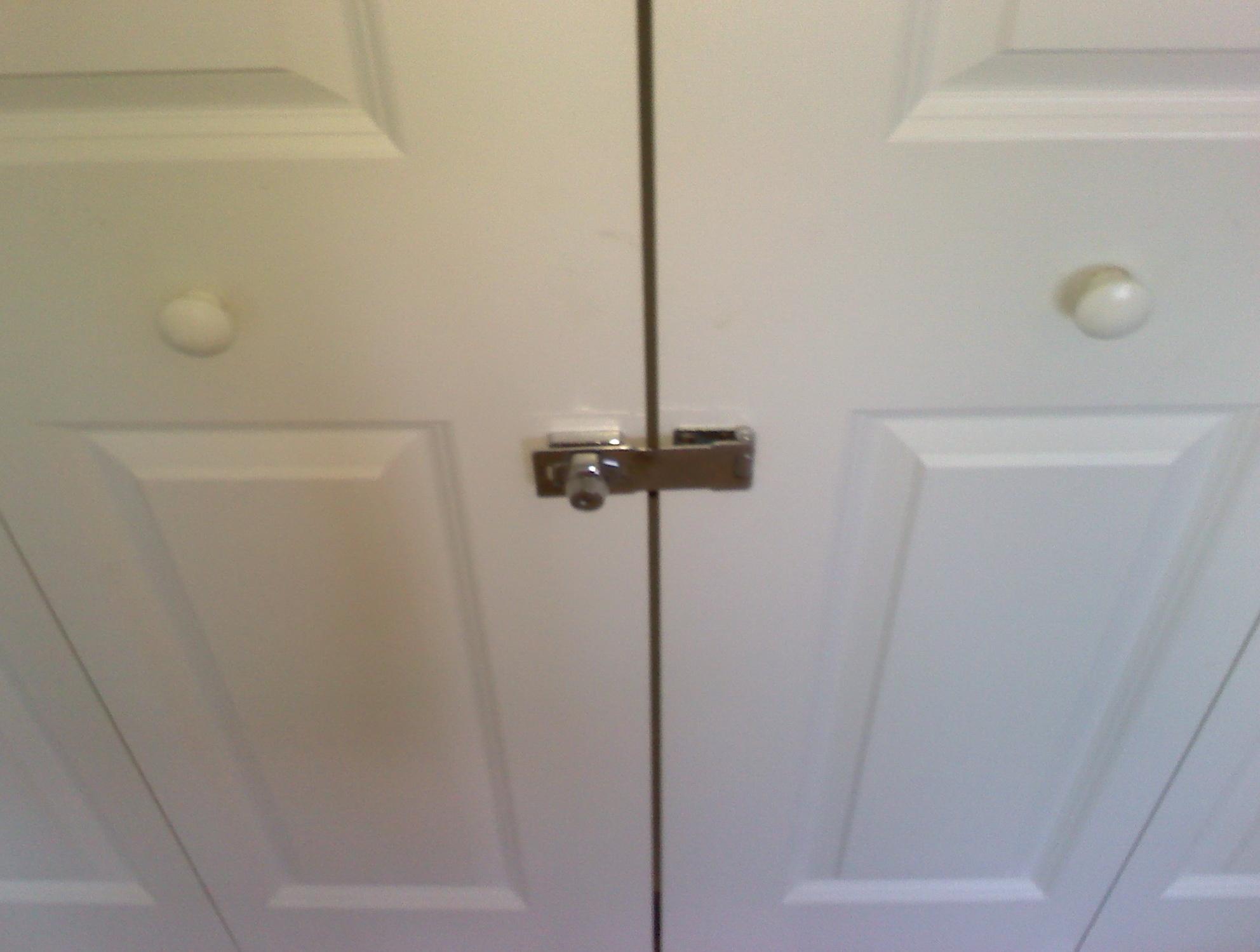 Sliding Closet Door Locks With Keyconstruct double closet door locks roselawnlutheran