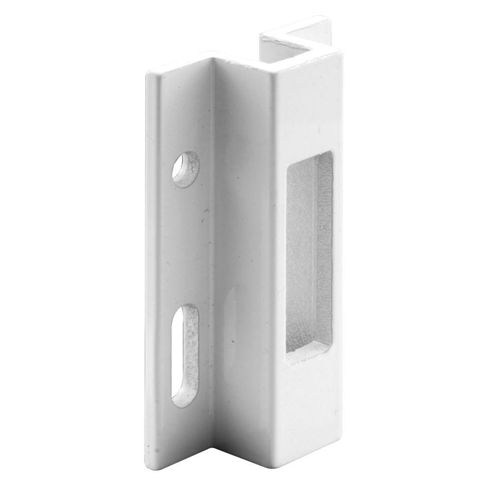 Sliding Glass Door Strike Keeperprime line white extruded aluminum sliding door keeper e 2124