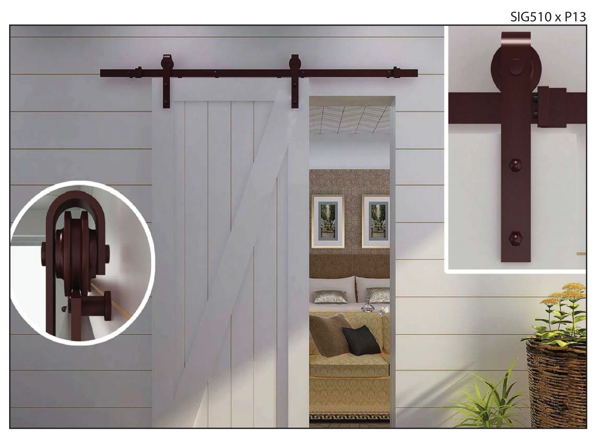Hardware for wall mounted sliding door - Wall Mounted Sliding Door Hardware Kit2093 X 1542
