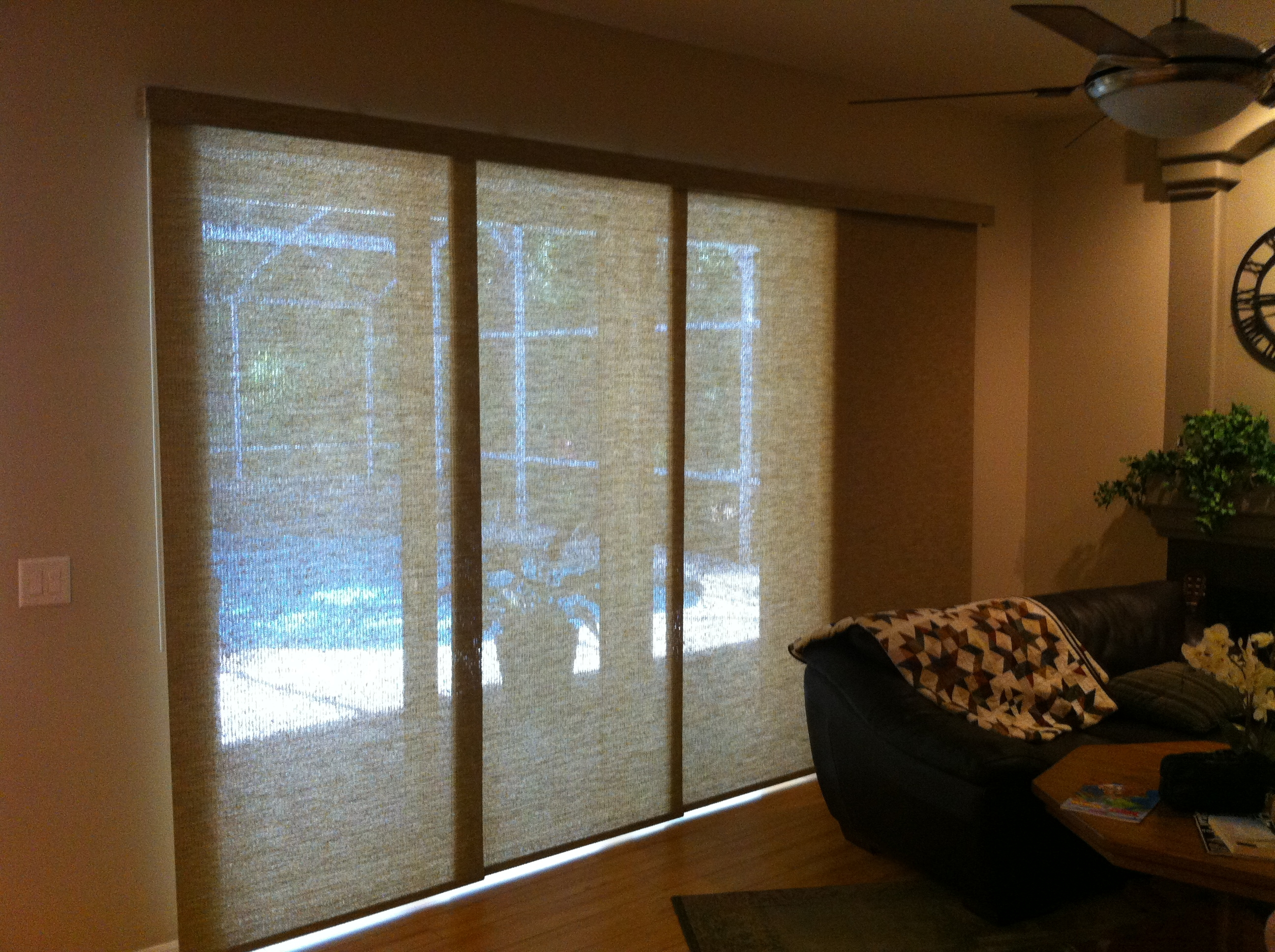 3 Panel Sliding Patio Door With Blinds