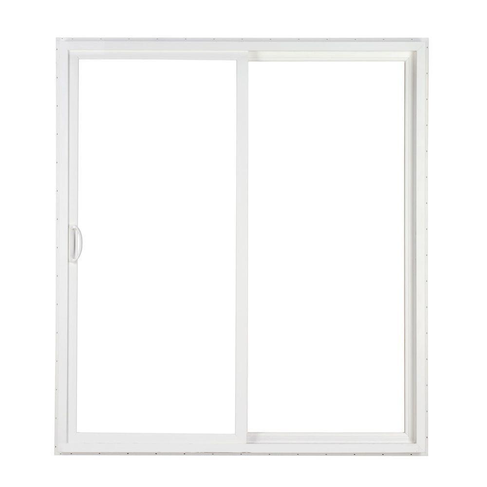 96 Sliding Glass Doorsimonton 96 in x 80 in 2 panel white contemporary vinyl sliding