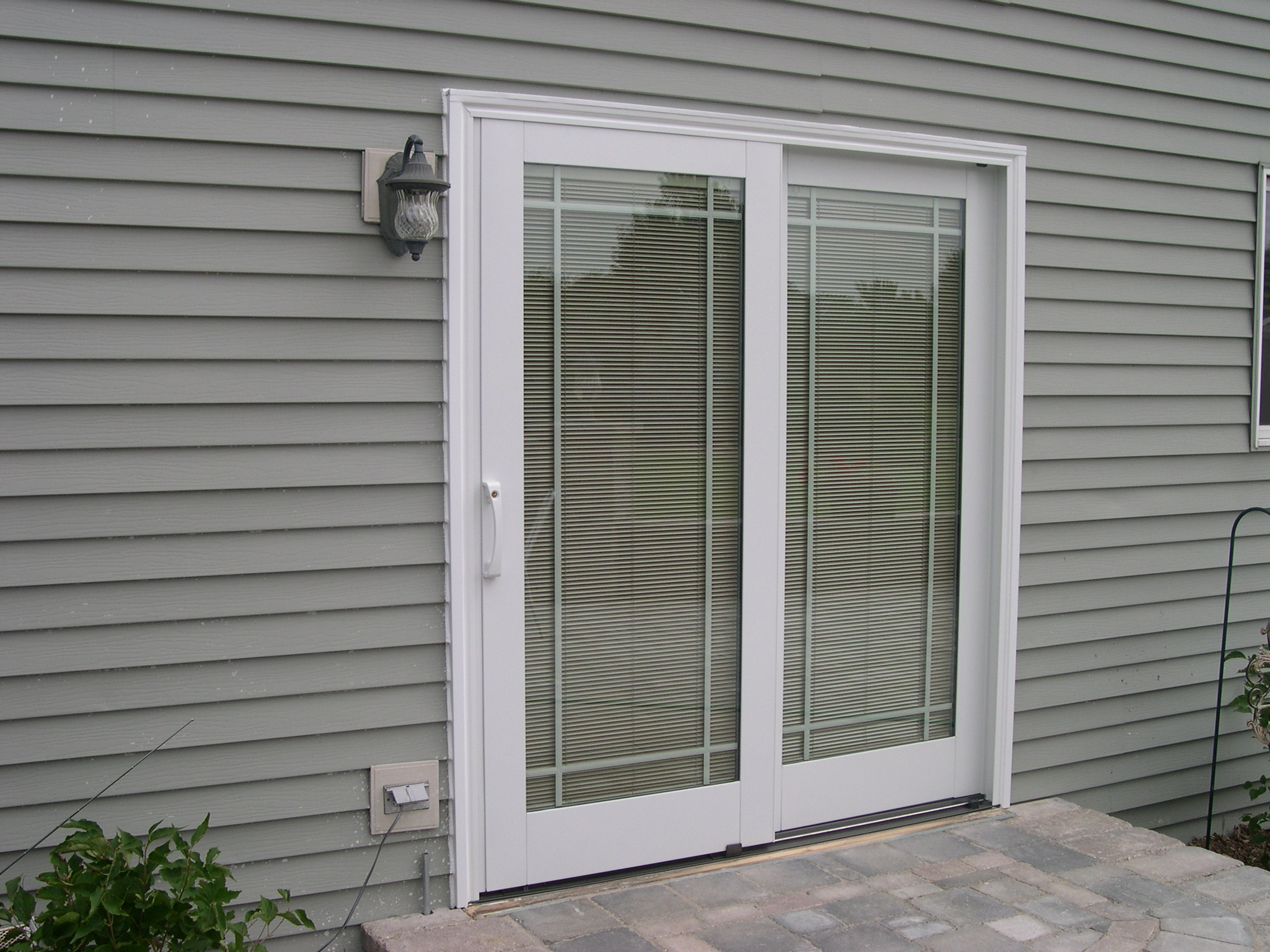 Superior Andersen Sliding Patio Doors With Blinds Between The Glass