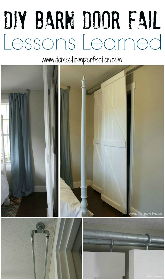 Double Hung Sliding Barn Doorsdouble pass sliding barn door system a diy fail domestic