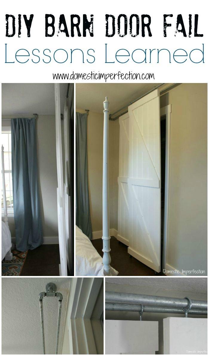 Double Hung Sliding Barn Doorsdouble pass sliding barn door system a diy fail domestic