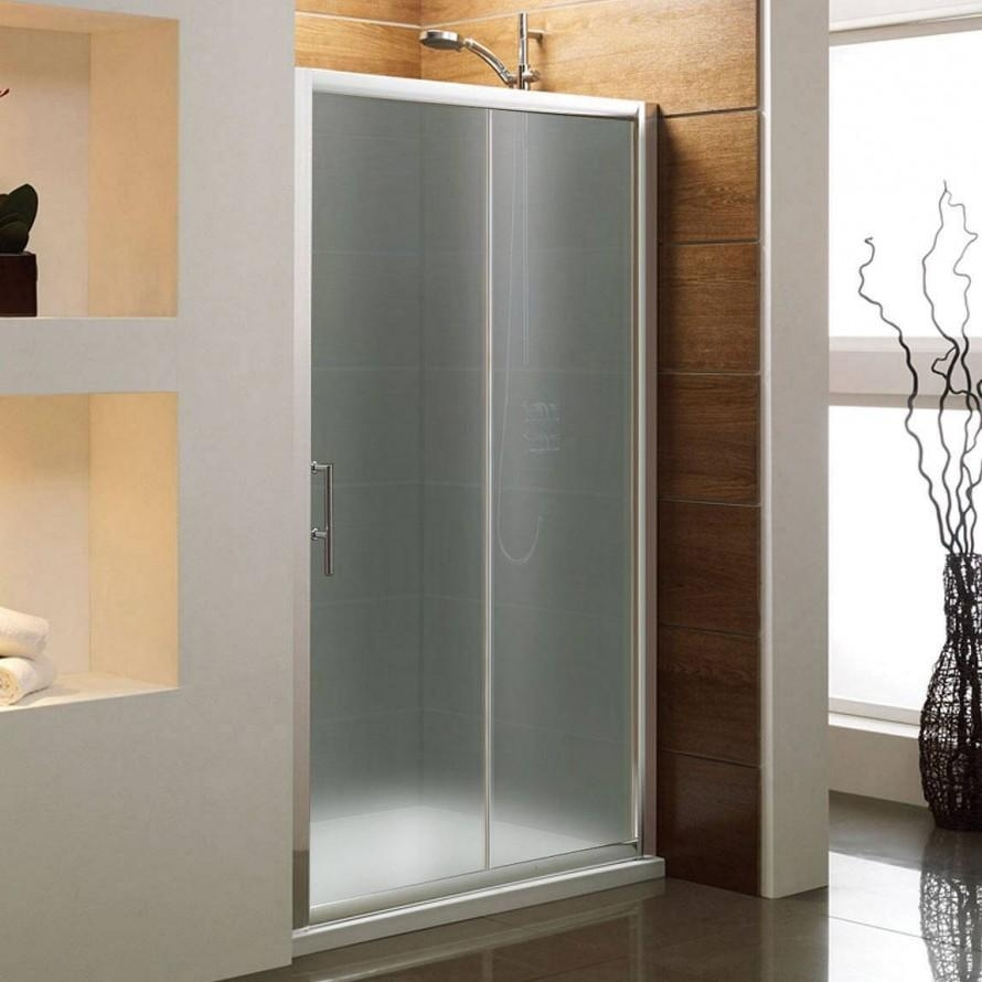 Frosted Sliding Glass Door For Bathroom