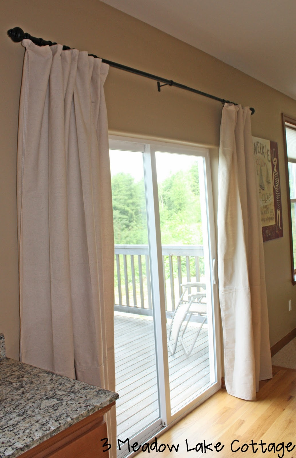 Hanging Curtain Rods Over Sliding Glass Door1033 X 1600