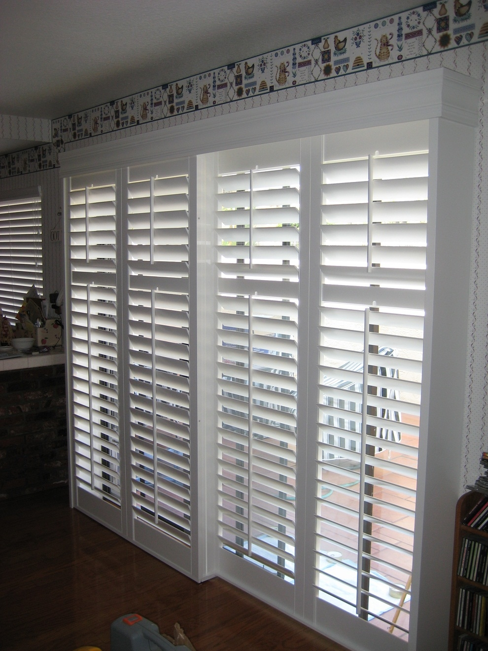 Horizontal Wood Blinds Sliding Glass Doors Sliding Doors