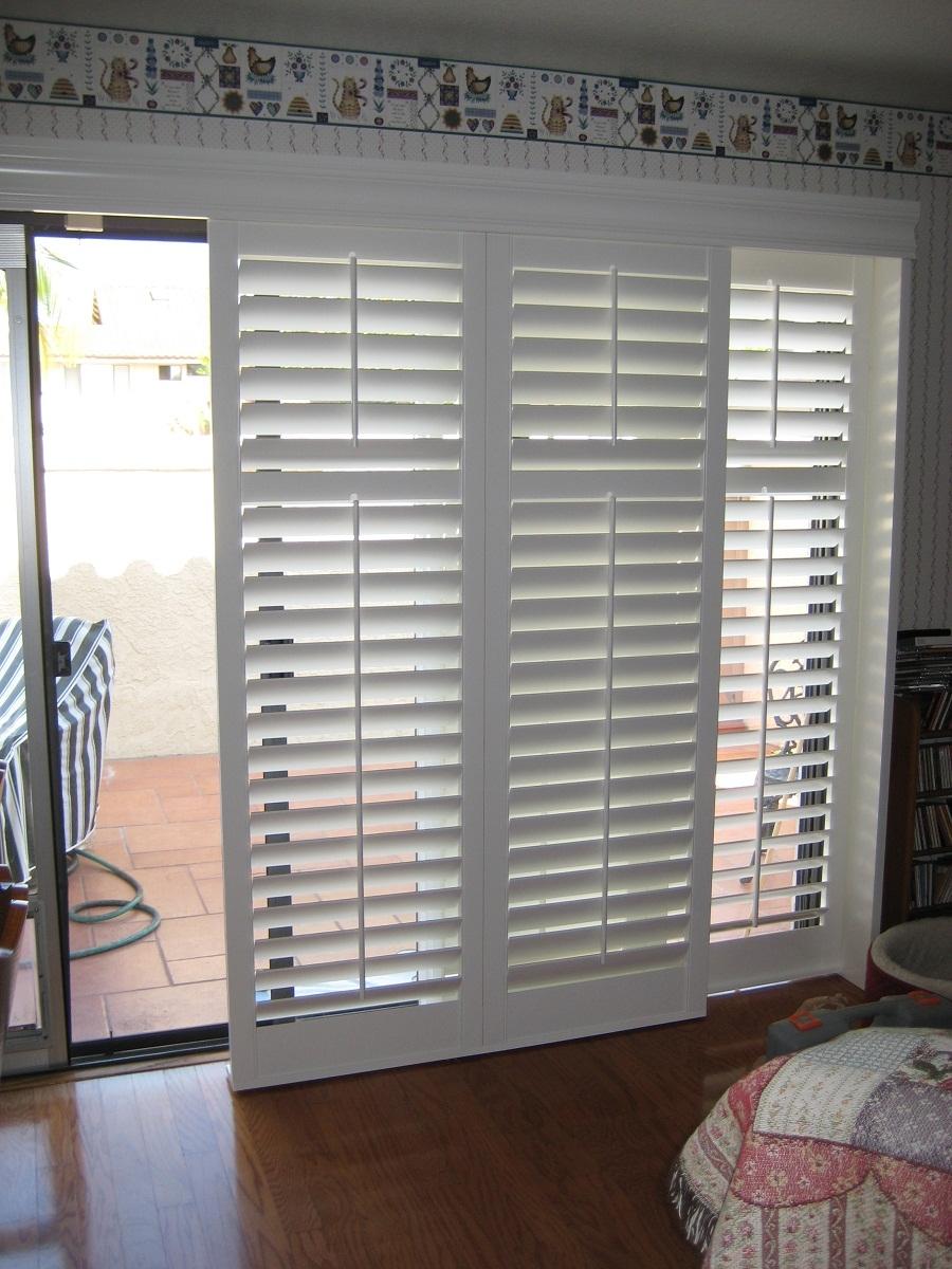 Interior Plantation Shutters For Sliding Glass Doors900 X 1200