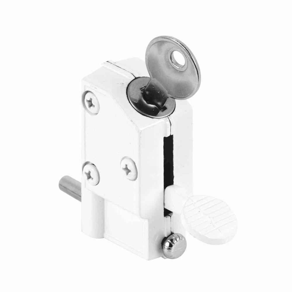 Keyed White Sliding Patio Door Lock1000 X 1000