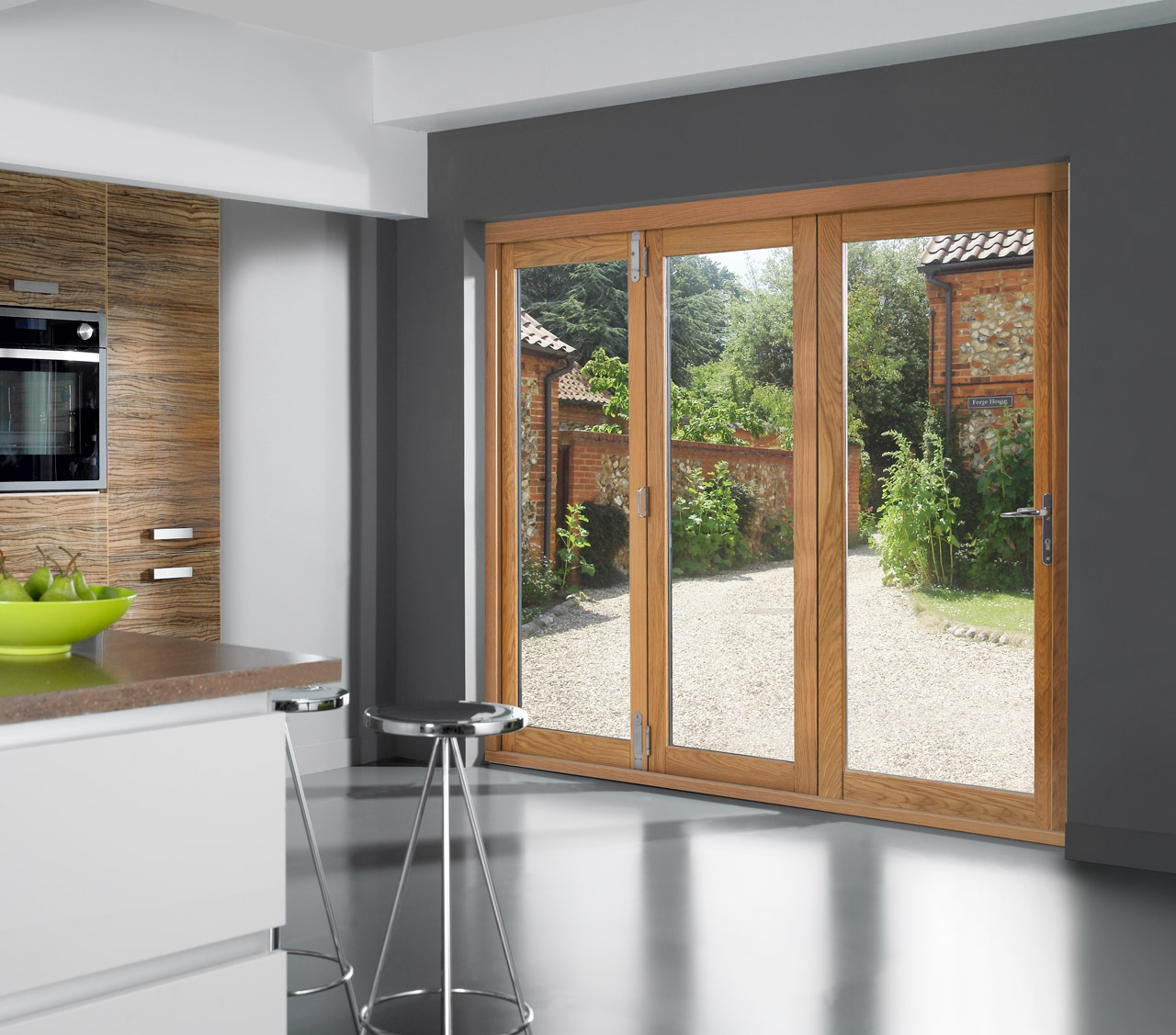 Oak Slide And Fold Patio Doors Sliding Doors