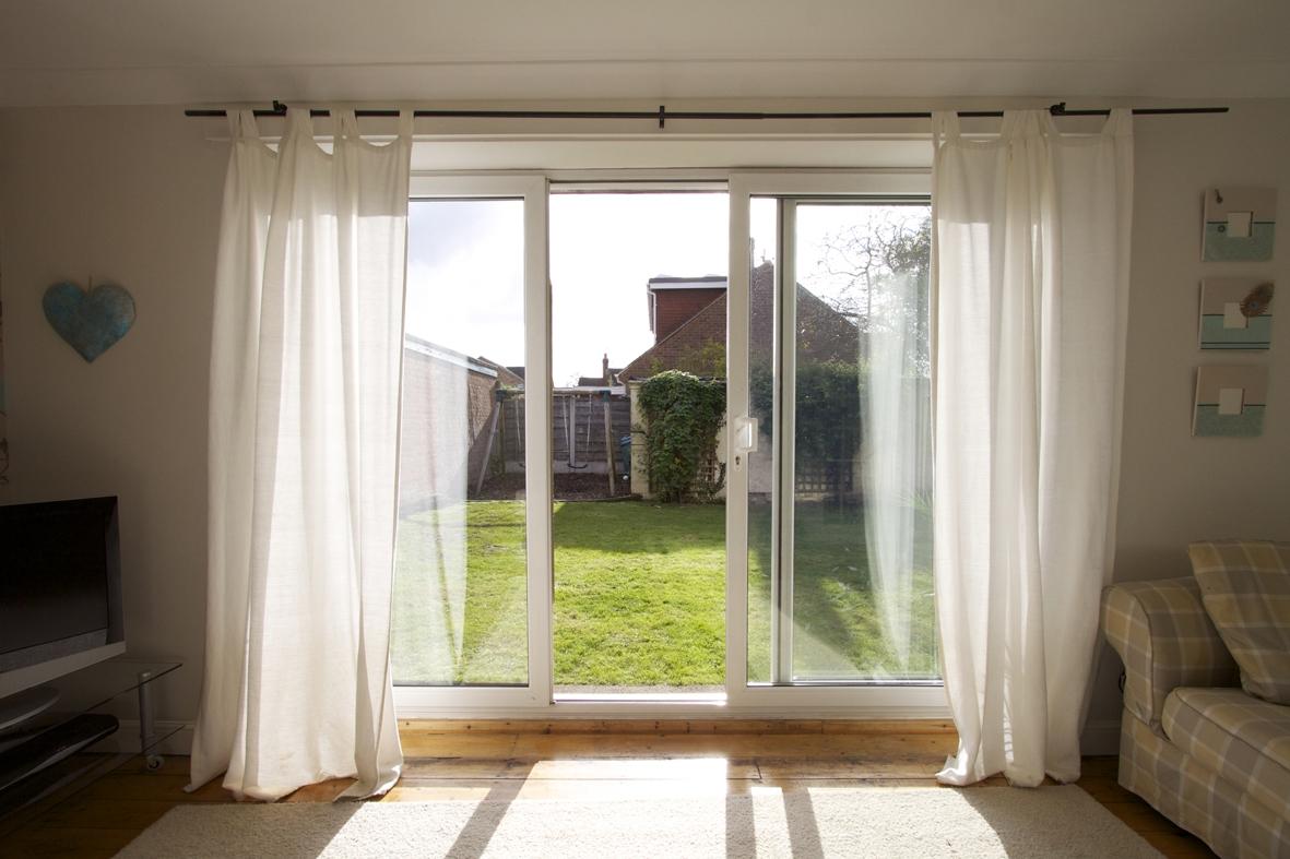 Oversized Sliding Glass Door Curtainswindow treatment ideas for sliding glass doors