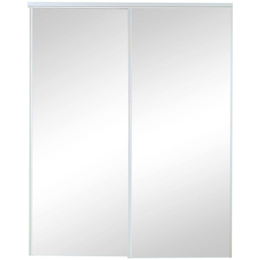 Rough Opening For 48 Sliding Doorstruporte 48 in x 80 in 120 series steel silver mirror sliding