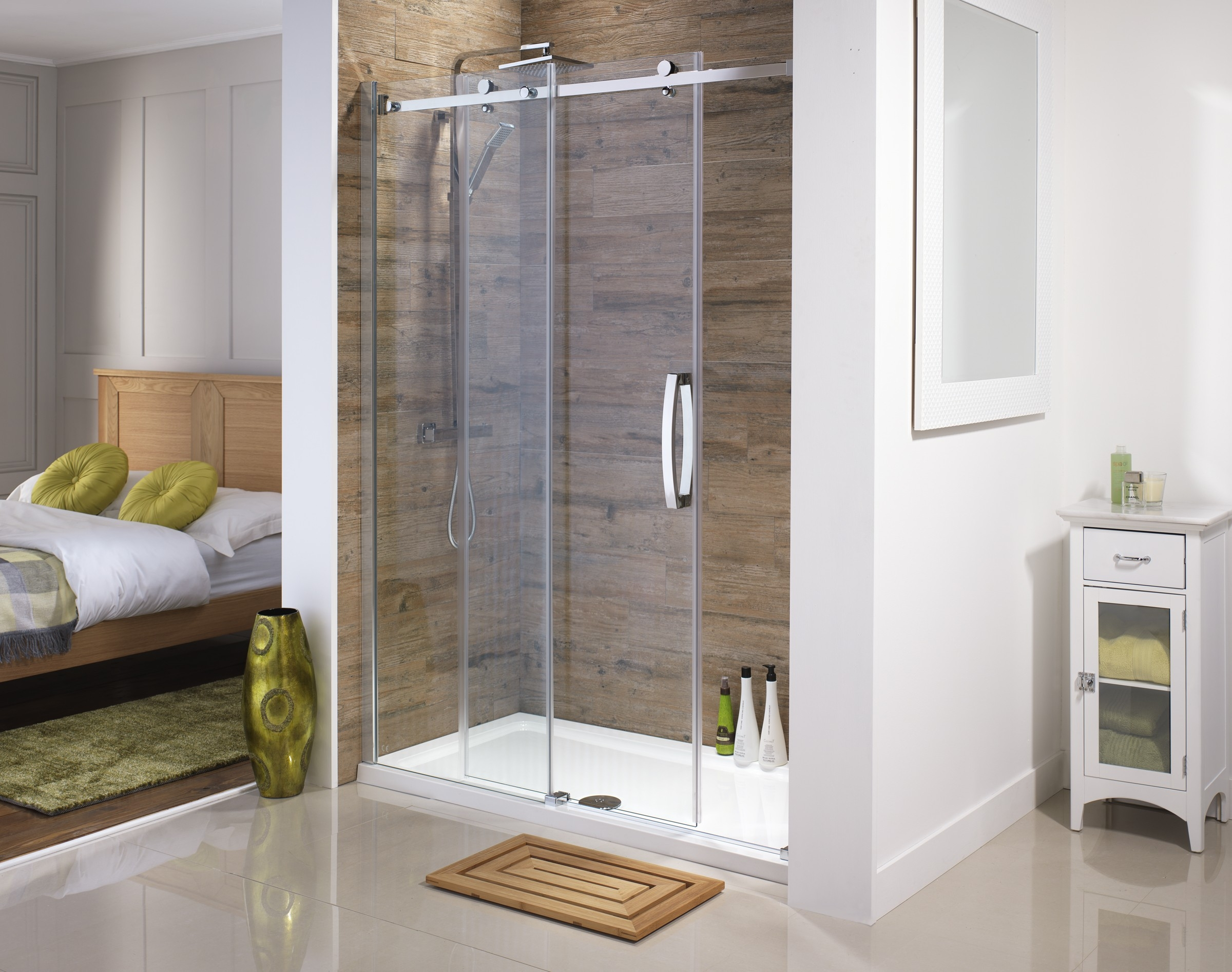 Shower Cubicles With Sliding Doorsorca frameless sliding doors available from serene bathrooms
