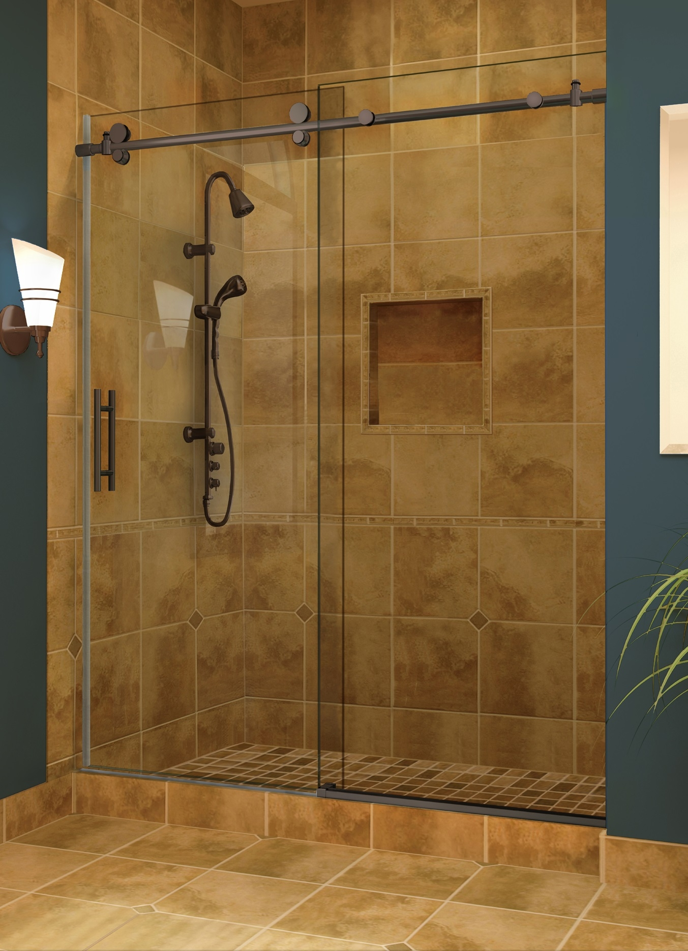 Single Panel Sliding Shower DoorSingle Panel Sliding Shower Door