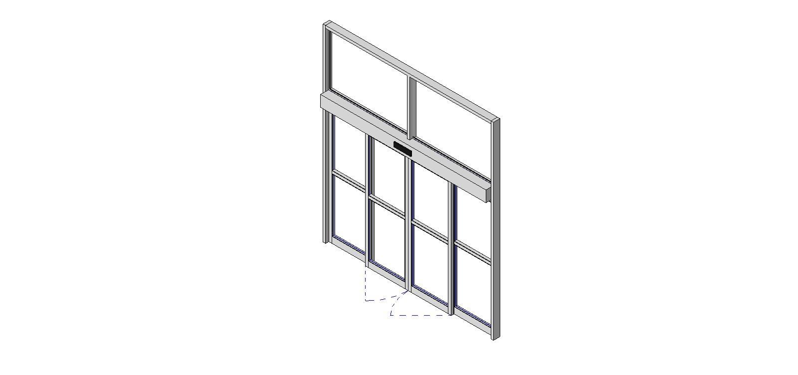 Sliding Door Curtain Panel Revit1600 X 752