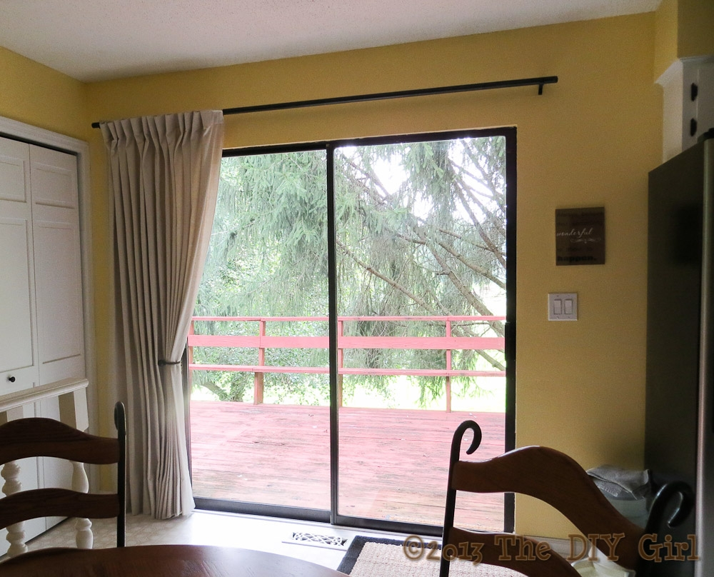 Sliding Door Drapery Rodspatio ideas patio door curtain rods with wooden deck pattern and