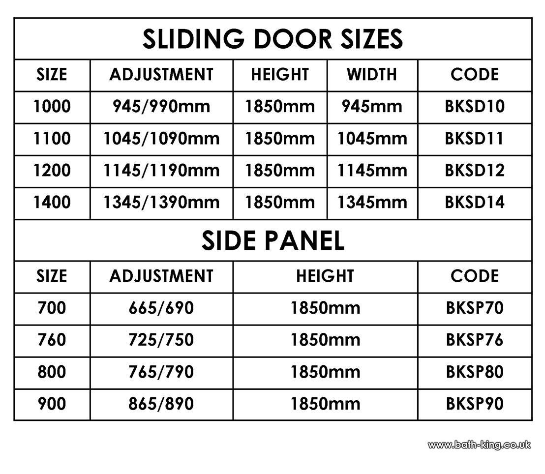 Sliding Glass Door Length
