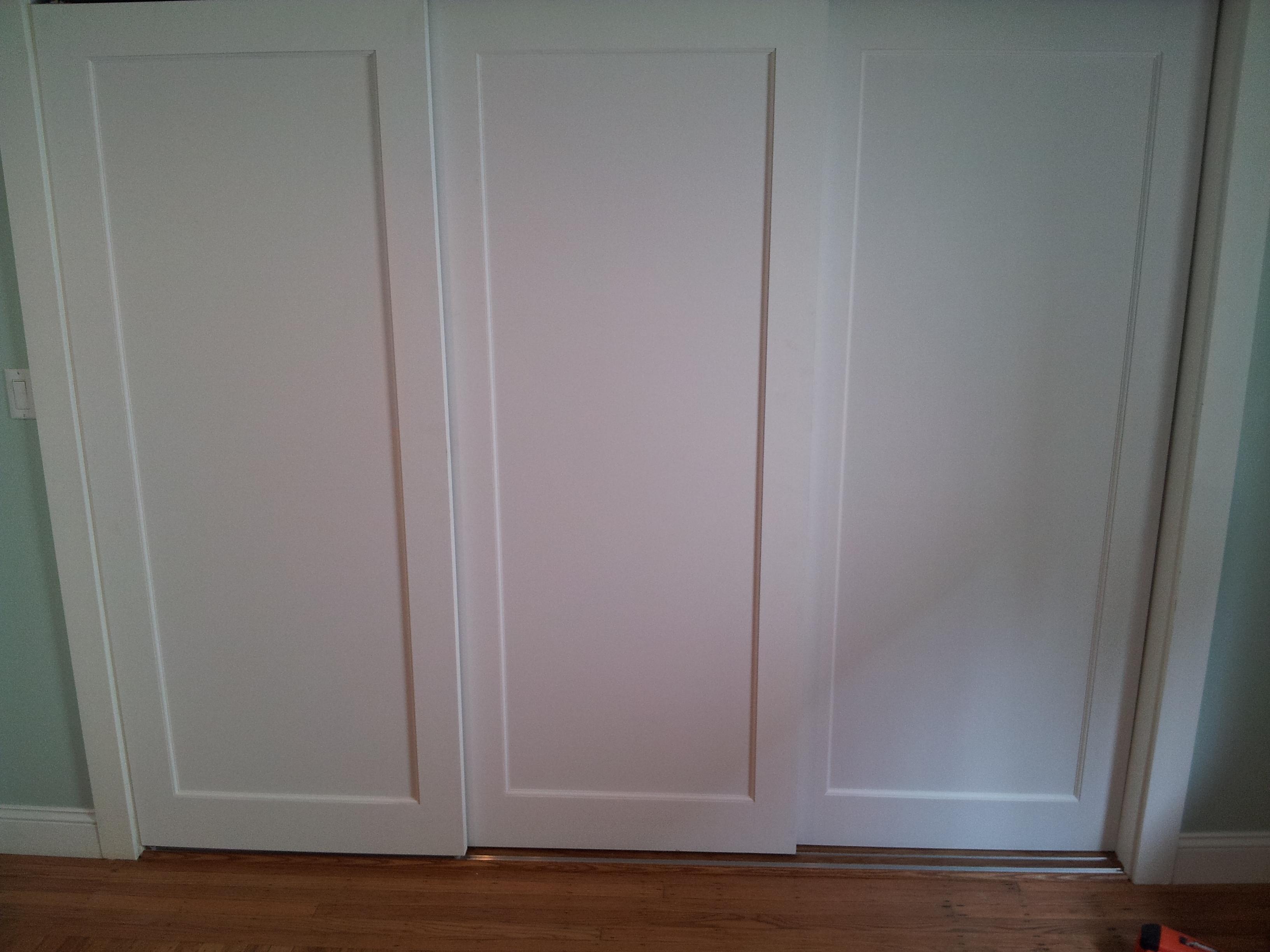 Three Panel Sliding Closet Doors