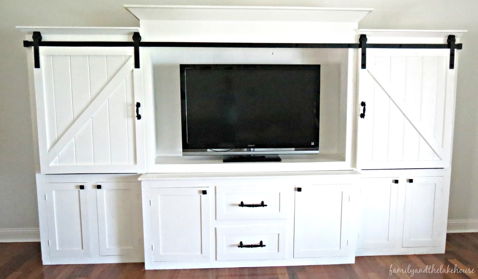 Tv Entertainment Center With Sliding Doorsfamily and the lake house shes here welcome home sliding barn
