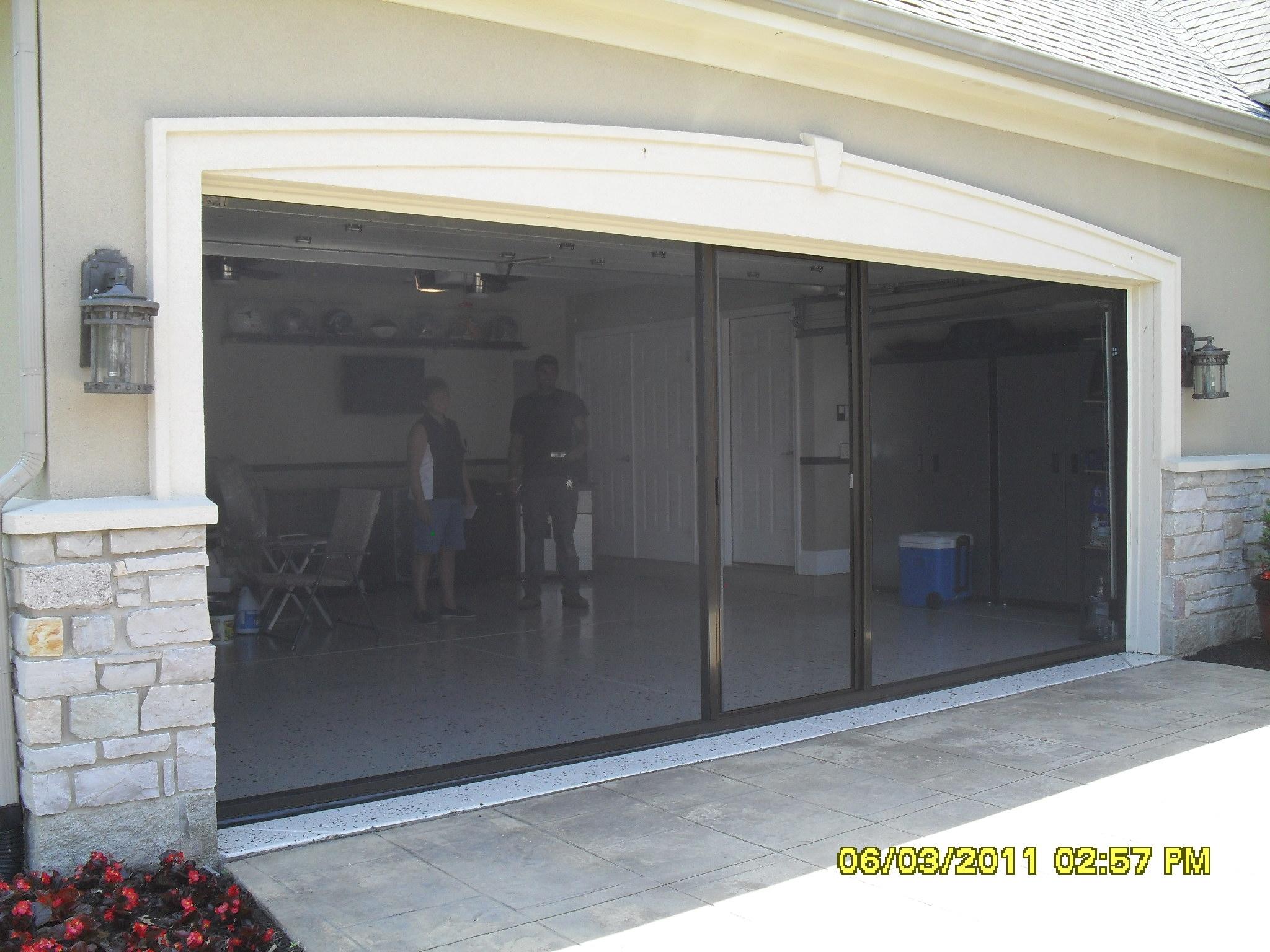 Two Car Garage Sliding Screen Door