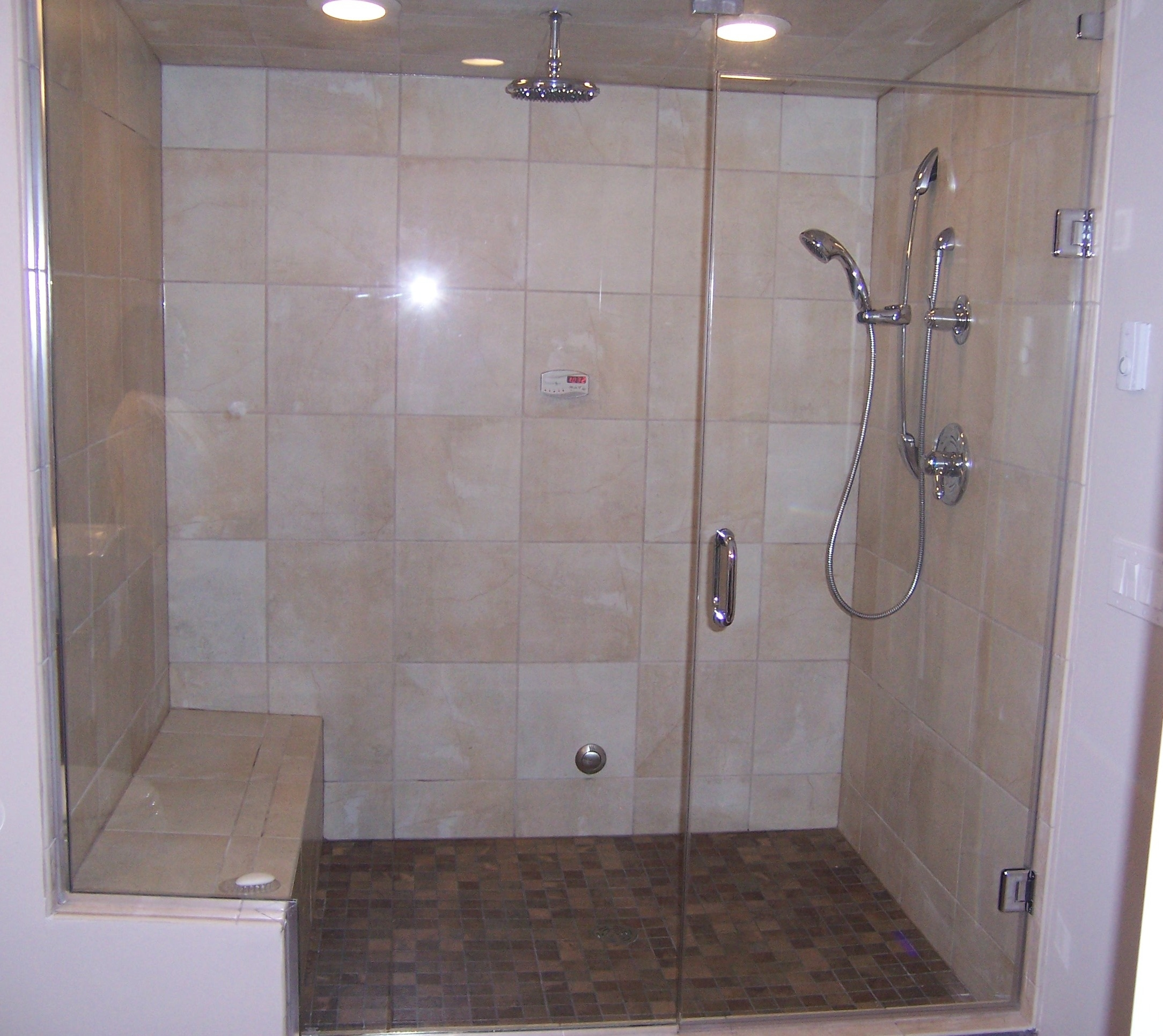 Ceiling Mounted Sliding Shower Door