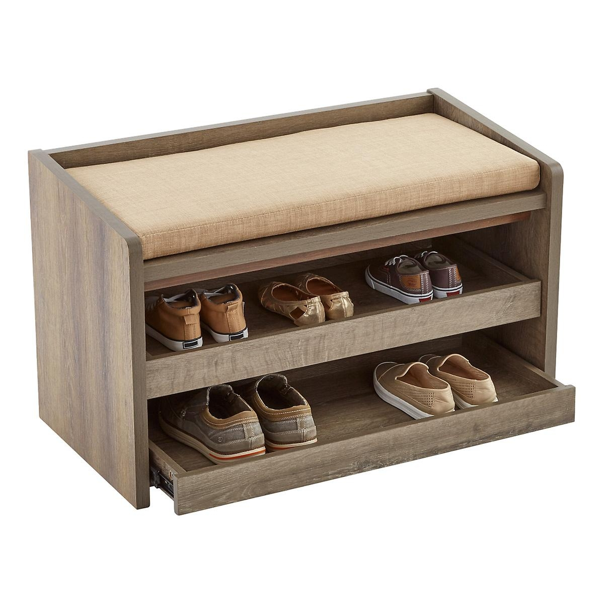 Craftsman 60 W Shoe Storage Bench With Sliding Doors