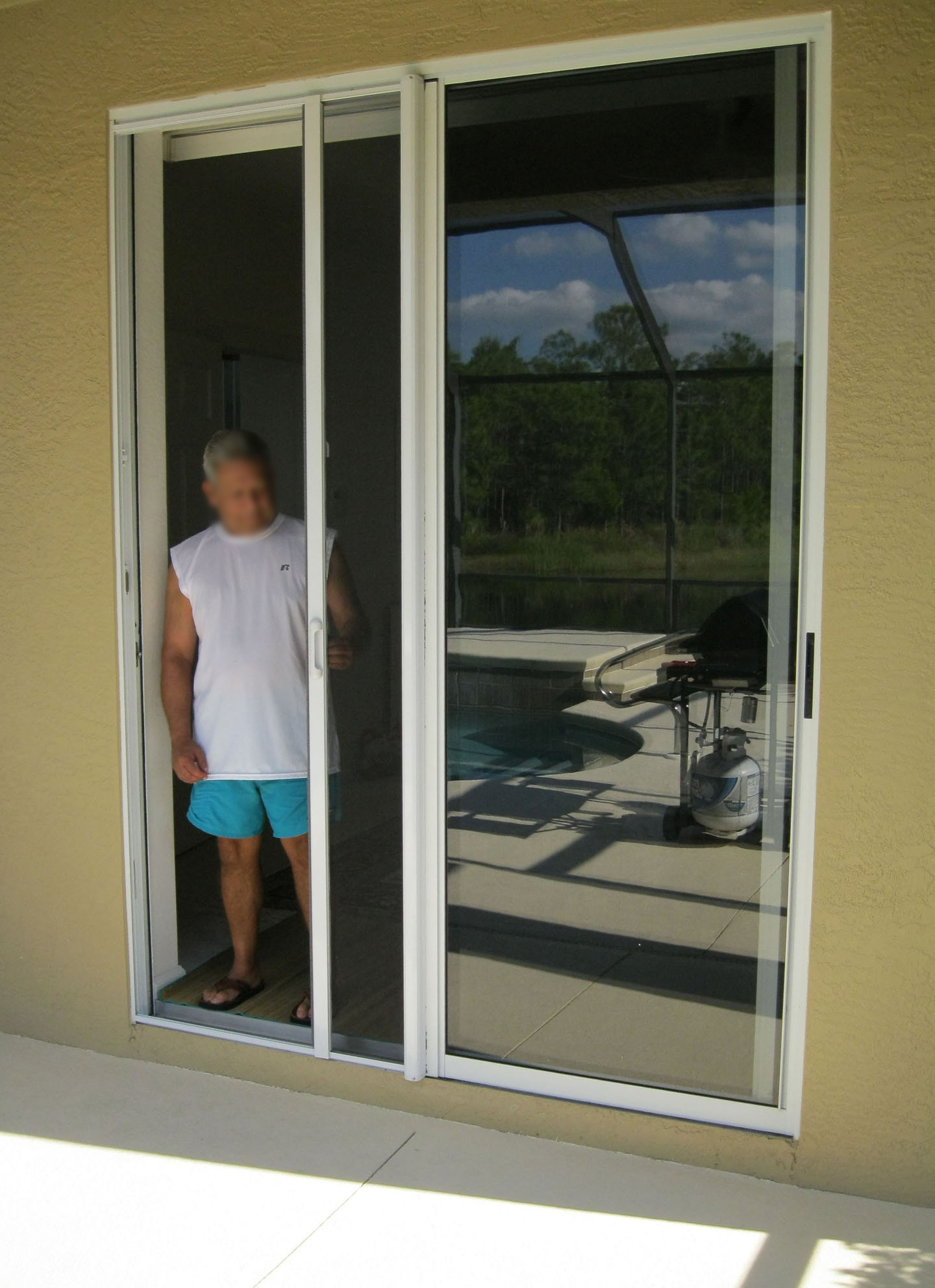 how to make a screen door for a sliding door