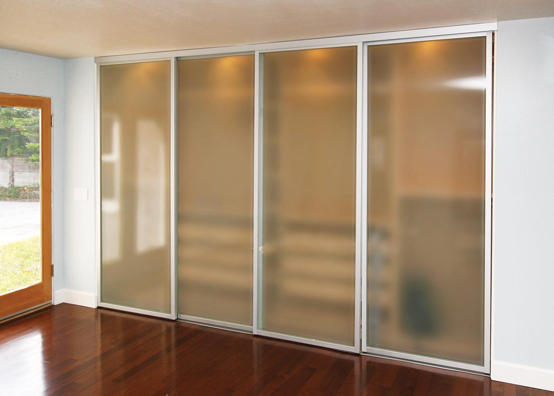 Etched Glass Sliding Closet Doors