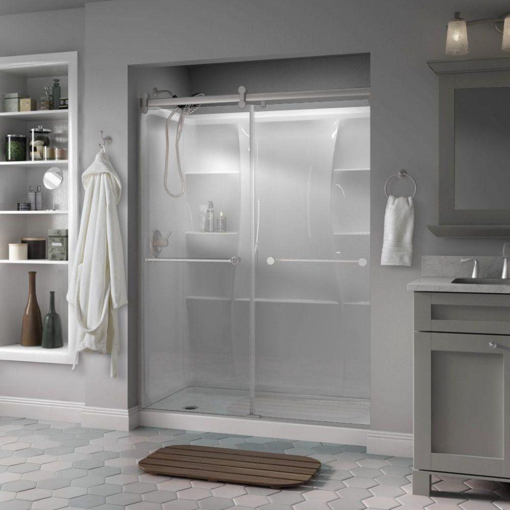 Framed Sliding Shower Door Clear Bumpers1000 X 1000