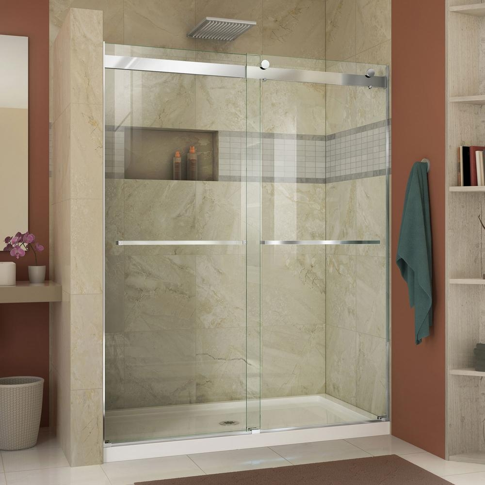 Semi Frameless Sliding Shower Doorsdreamline essence 56 to 60 in x 76 in semi frameless sliding
