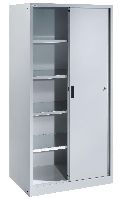 Shelf With Sliding Doors