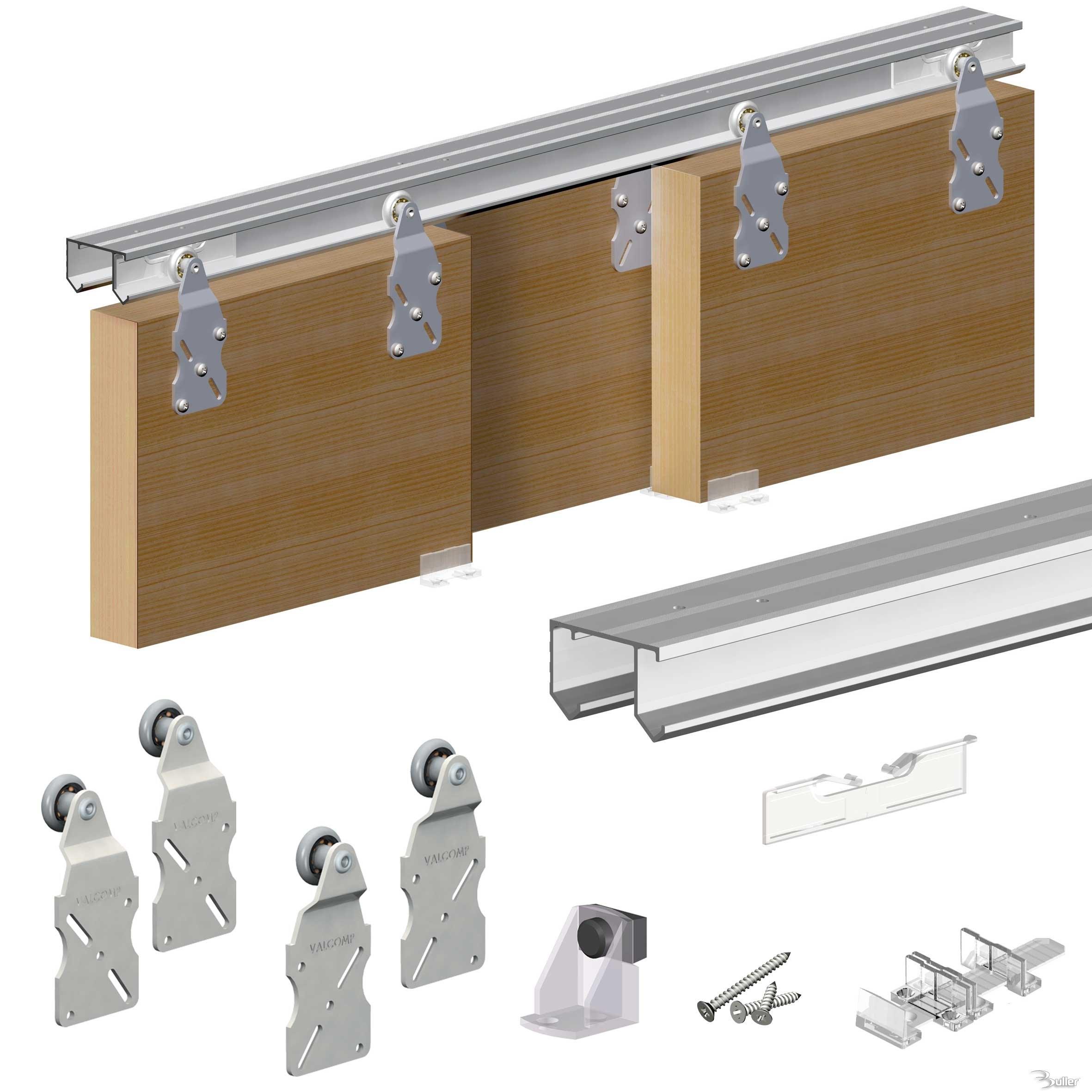 Closet door track problems sliding closet door track for Sliding door rail