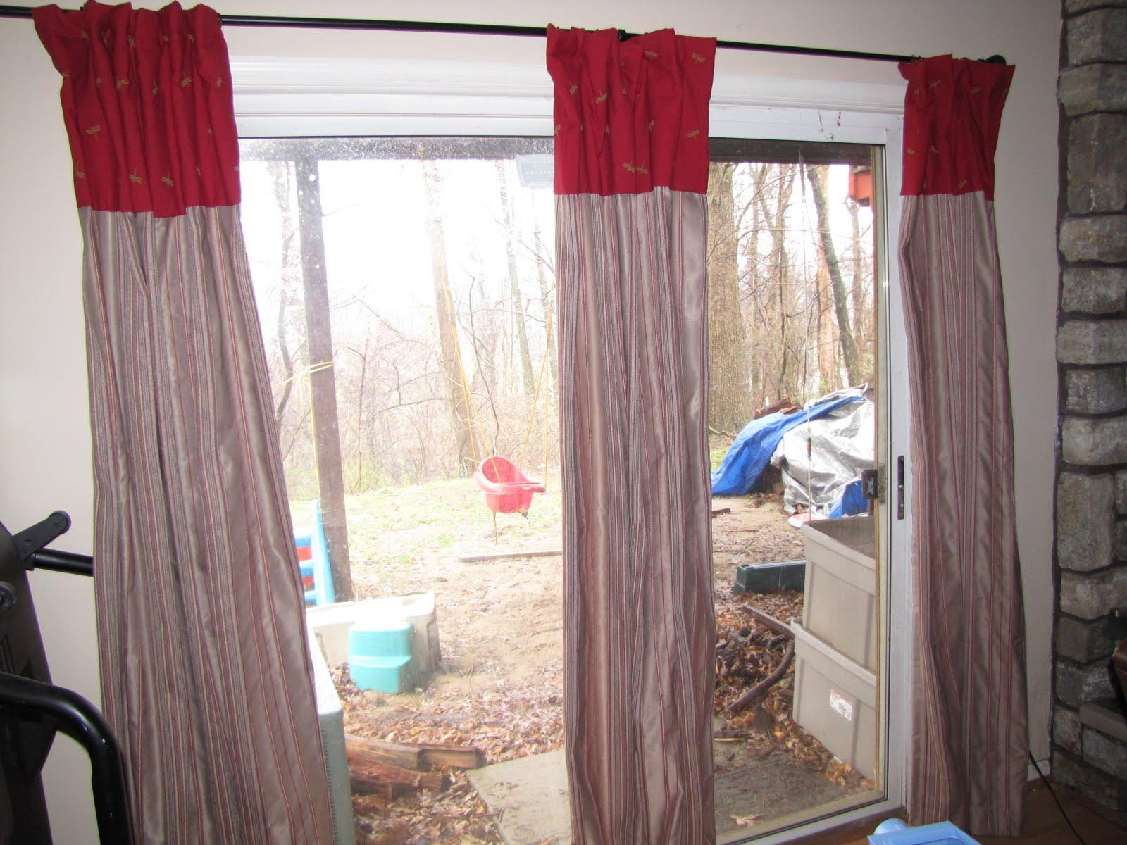 Sliding Door Curtains Decorating IdeasSliding Door Curtains Decorating Ideas