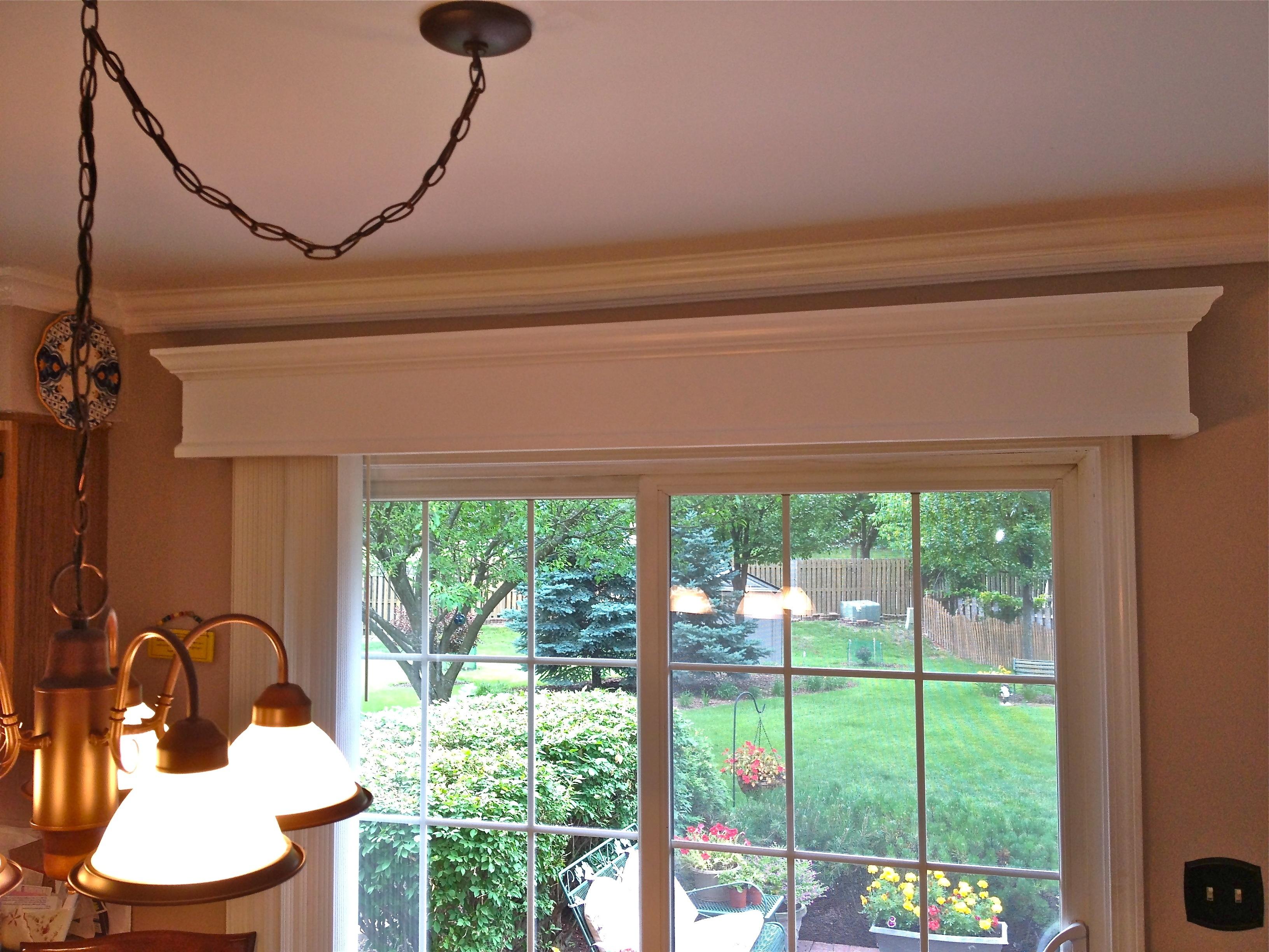 Sliding Door Wood Valancewooden valance with vertical blinds for patio door home decor