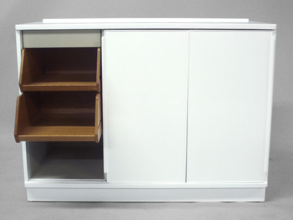 White Cupboard With Sliding DoorsWhite Cupboard With Sliding Doors