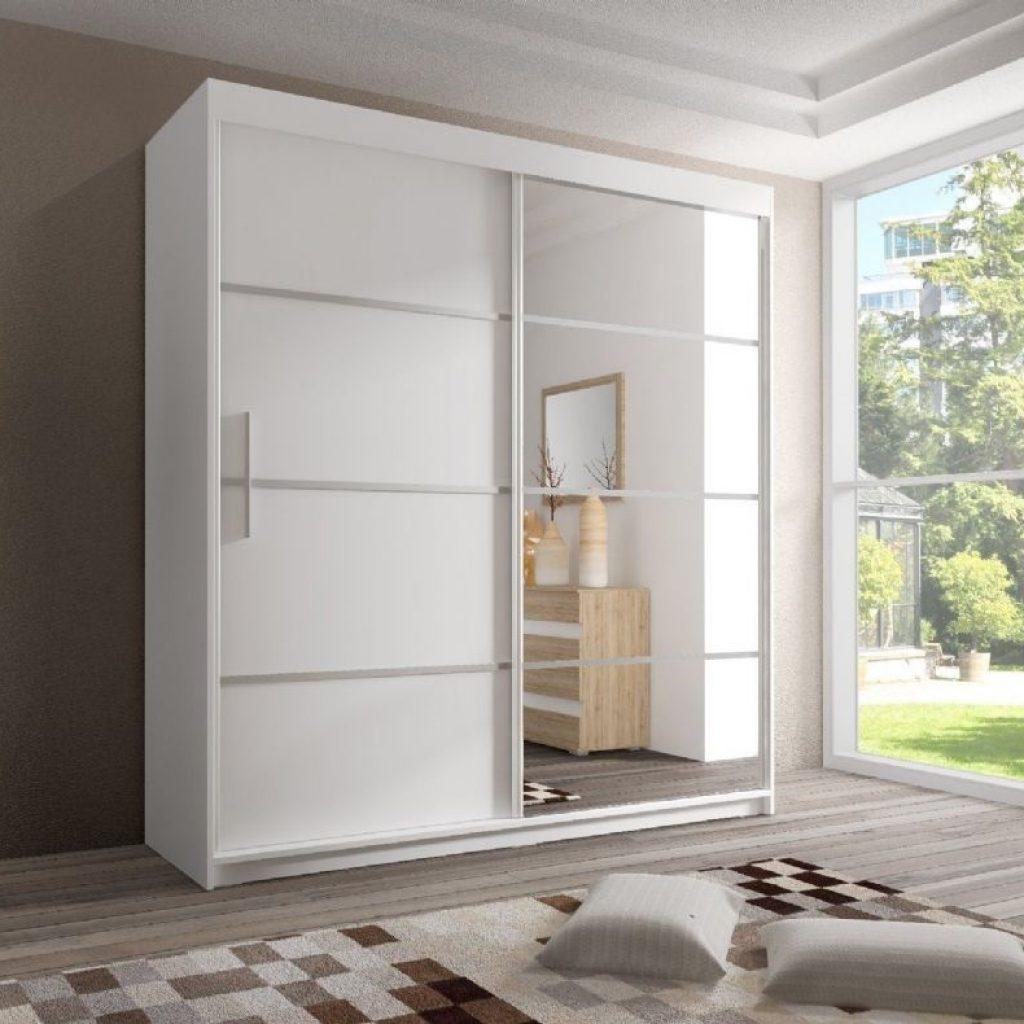 White Sliding Door Wardrobe With Mirror1000 X 790
