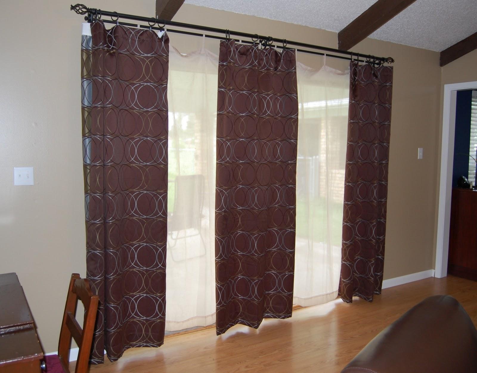 3 Panel Sliding Glass Door Curtainscurtains konica minolta digital camera blackout patio door