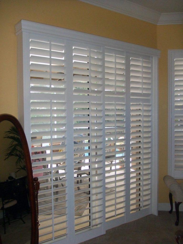 Bypass Shutters Sliding Glass Doorssliding french doors rockwood shutters blinds and draperies
