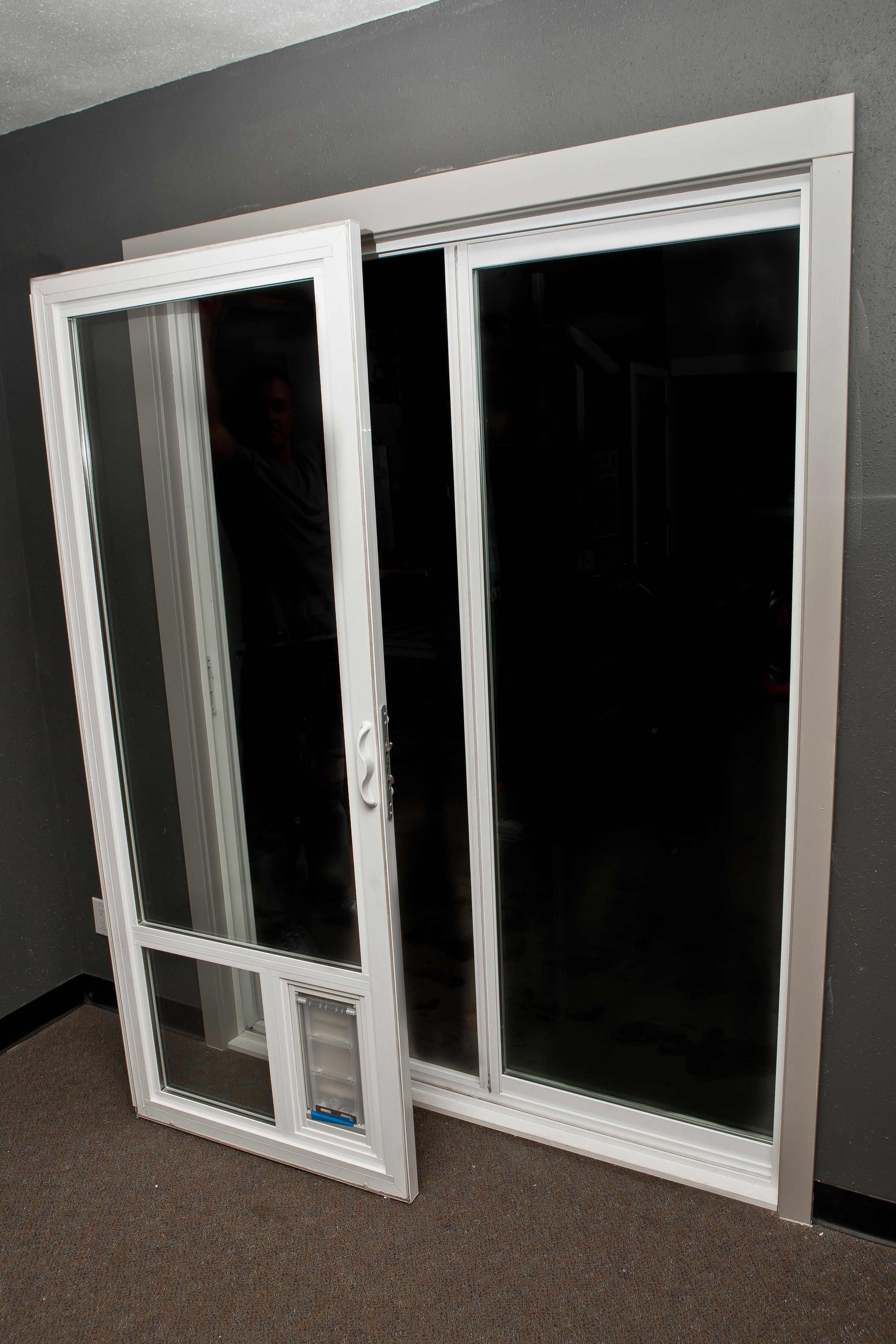 Cat Door Insert For Sliding Doorglass exterior door with pet door full view glass insert with pet